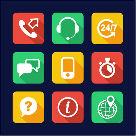 complain: Customer Service Icons Flat Design