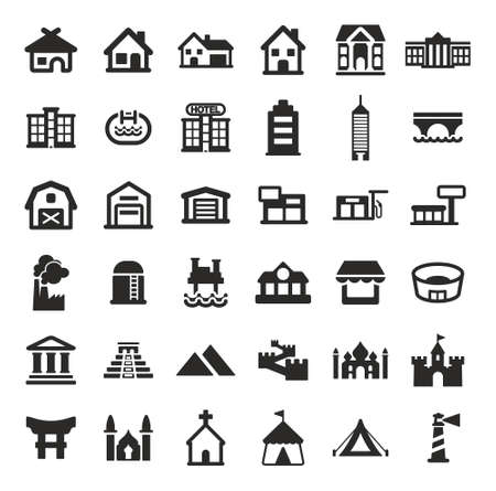 pool hall: Buildings Icons