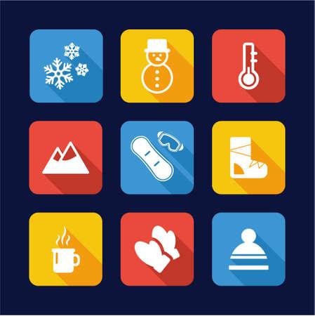Winter Icons Flat Design
