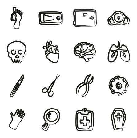 coroner: Morgue Icons Freehand