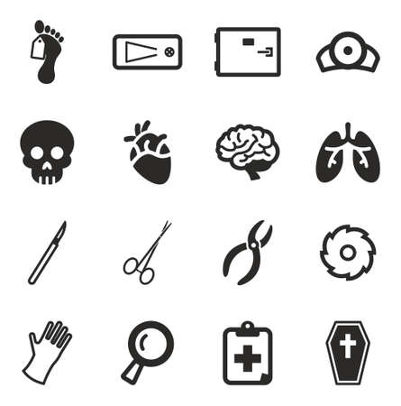surgical glove: Morgue Icons