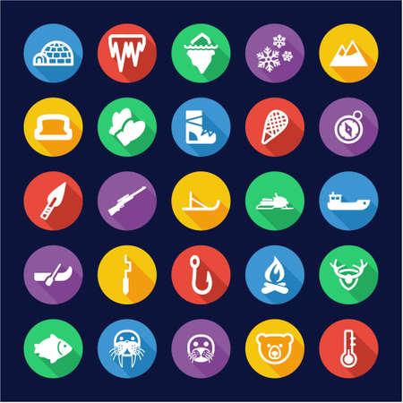 eskimo: Eskimo Icons Flat Design Circle