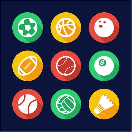 train table: Ball Icons Flat Design Circle Illustration