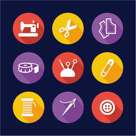button icon: Tailor Shop Icons Flat Design Circle Illustration