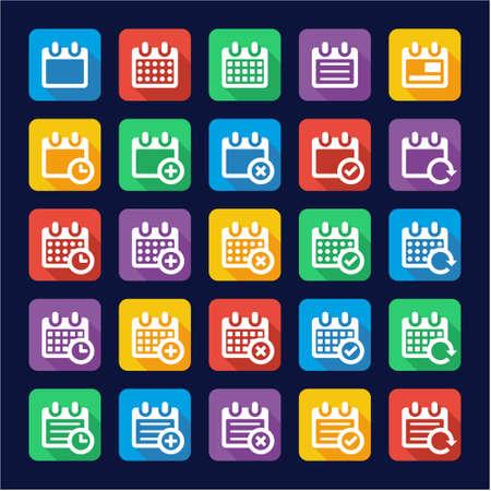 calendar design: Calendar Icons Flat Design