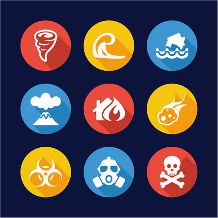 armageddon: Armageddon Icons Flat Design Circle