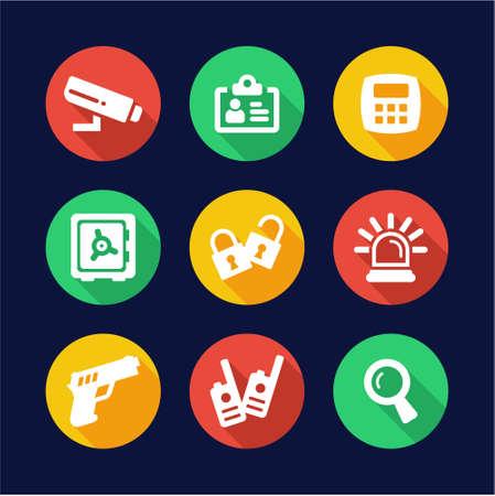 tresspass: Security Icons Flat Design Circle Illustration