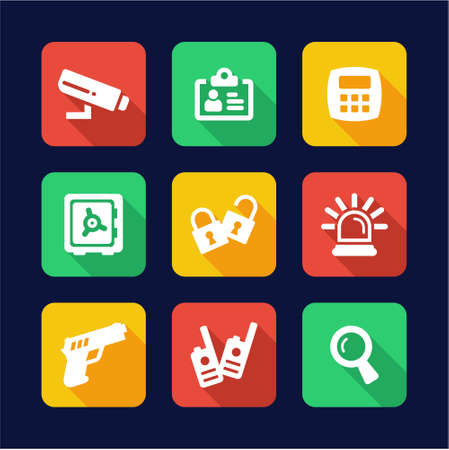 tresspass: Security Icons Flat Design