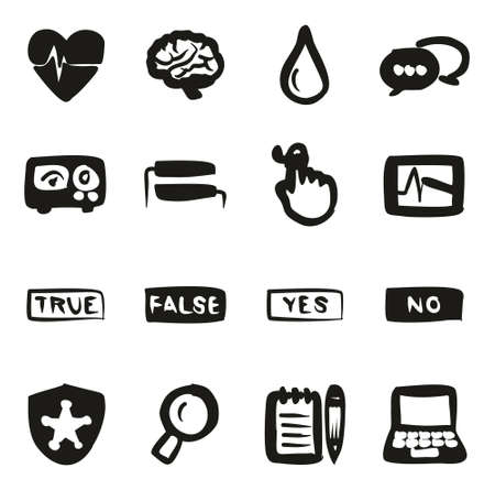 detector: Lie Detector Icons Freehand Fill