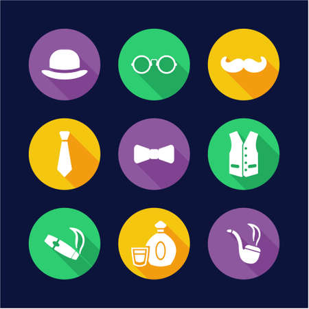 waistcoat: Gentleman Icons Flat Design Circle