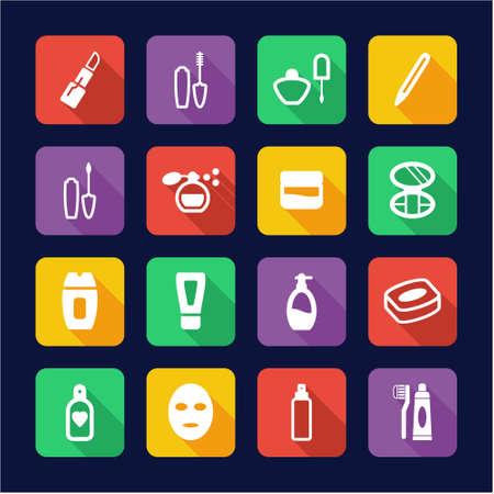 balsam: Cosmetics Icons Flat Design