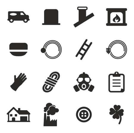 Schornsteinfeger Icons Vektorgrafik