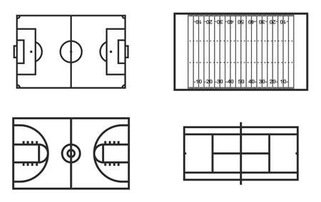 footbal: Playing Fields Icons Set 1