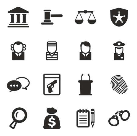 courthouse: Courthouse Trial Icons