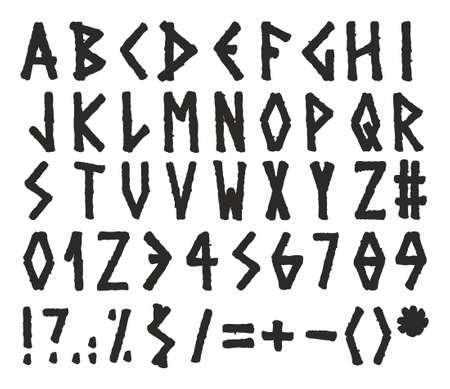 w c: Marker Alphabet Greek Style