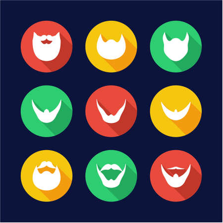 long straight hair: Beard Icons Flat Design Circle Illustration