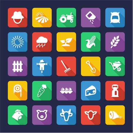 muck: Farm Icons Flat Design