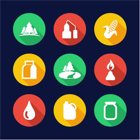 moonshine: Moonshine Icons Flat Design Circle Illustration