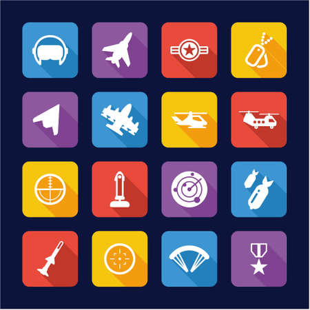 orden: Air Force Icons Flat Design