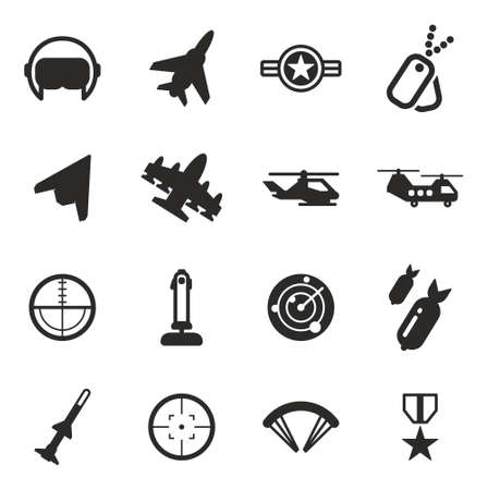 orden: Air Force Icons Illustration