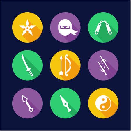 Ninja Icons Flat Design Circle
