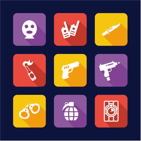 molotov: Terrorist Icons Flat Design Illustration