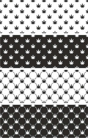 cannabis leaf: Cannabis Leaf Seamless Pattern