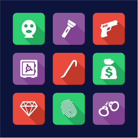 pry: Thief Icons Flat Design