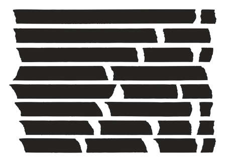 exact: Tape Lines Black Set 01 Illustration