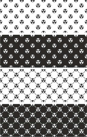 radioactive symbol: Radioactive Symbol Seamless Pattern Set