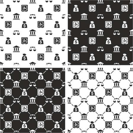 seamless pattern: Bank Seamless Pattern Set