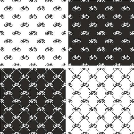 seamless pattern: Bicycle Seamless Pattern Set