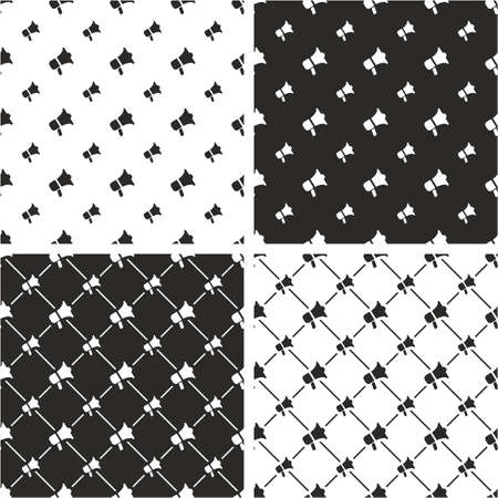 big and small: Megaphone Big & Small Seamless Pattern Set