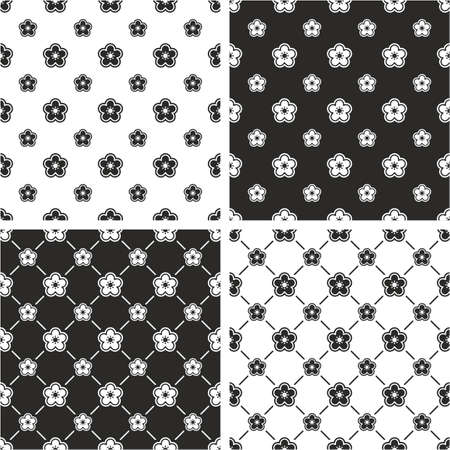 big and small: Flower Big & Small Seamless Pattern Set