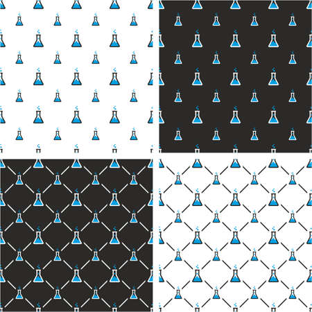 big and small: Chemistry Test Tube Big & Small Seamless Pattern Blue Color Set