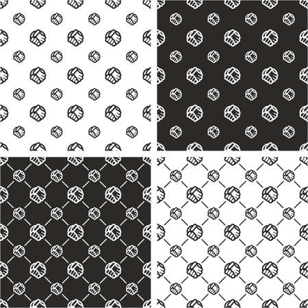 big and small: Handshake Big & Small Seamless Pattern Set