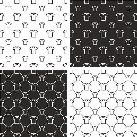 White T-shirt Big & Small Seamless Pattern Set