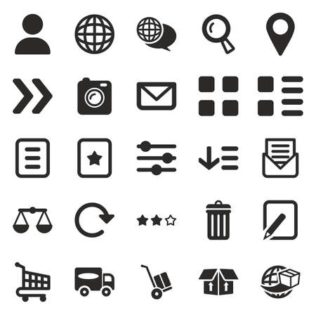 E Commerce or Web Shop Icons