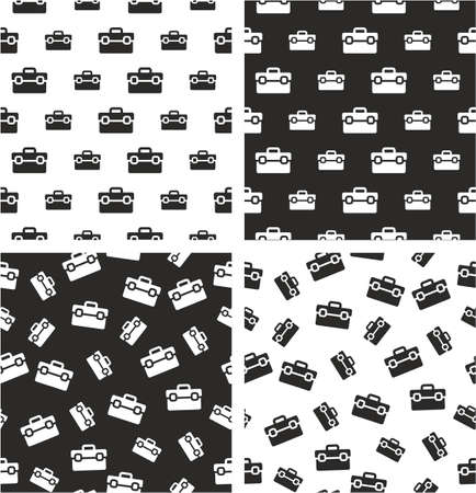 big and small: Toolbox Big & Small Aligned & Random Seamless Pattern Set Illustration