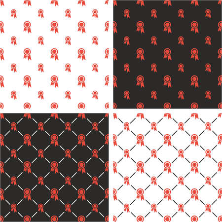 big and small: Prize or Award Big & Small Seamless Pattern Red Color Set