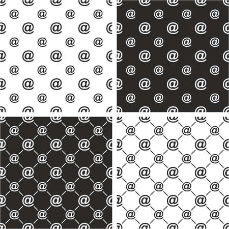 big and small: At Symbol Big & Small Seamless Pattern Set Illustration