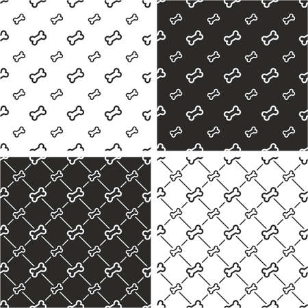 big and small: Dog Bone Big & Small Seamless Pattern Set