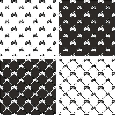 big and small: Gaming Joystick Big & Small Seamless Pattern Set