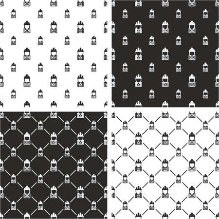 big and small: Construction Worker Avatar Big & Small Seamless Pattern Set