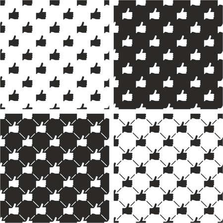 Like Icon Seamless Pattern Set