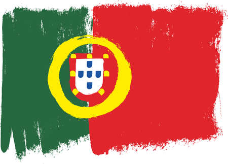 Portugal Flag Vector Hand Painted with Rounded Brush 向量圖像