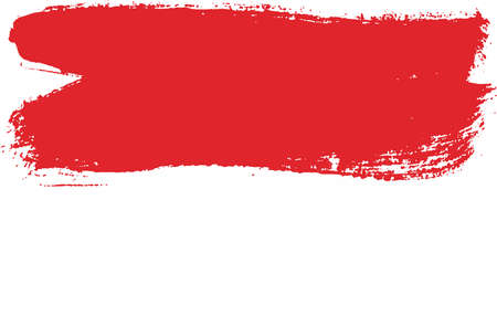 Monaco Flag Vector Hand Painted with Rounded Brush Illustration