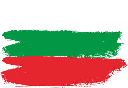 Bulgaria Flag Vector Hand Painted with Rounded Brush