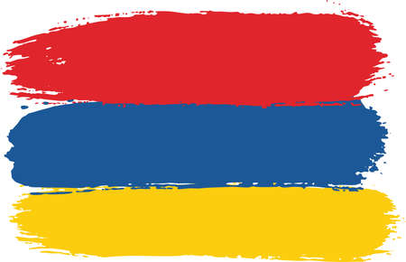 Armenia Flag Vector Hand Painted with Rounded Brush 向量圖像