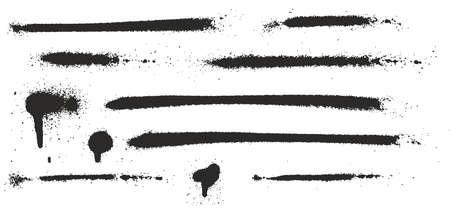Super Skinny Spray Paint Drips, Dots, Lines and Splatter Set 04 Illustration